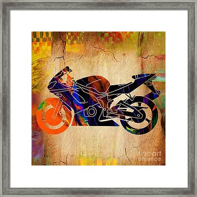 Ninja Bike Framed Print
