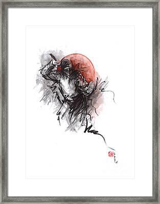 Ninja - Martial Arts Styles Painting Framed Print by Mariusz Szmerdt