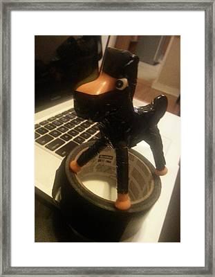 Ninja Pokey Framed Print by Del Gaizo