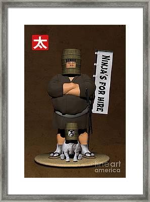 Ninjas For Hire Framed Print