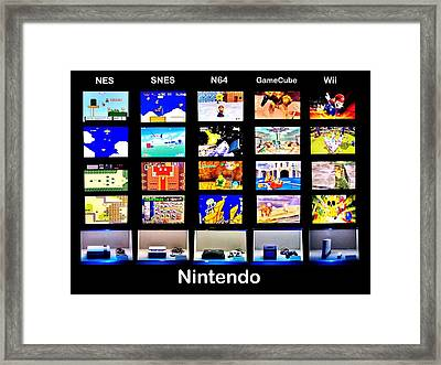 Nintendo History Framed Print by Benjamin Yeager