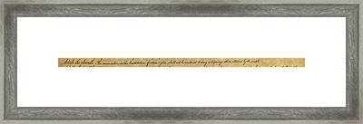 Ninth Amendment, 1789 Framed Print
