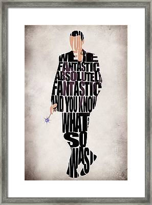 Ninth Doctor - Doctor Who Framed Print by Ayse Deniz
