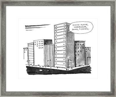 'ninth Floor Framed Print by Mick Steven