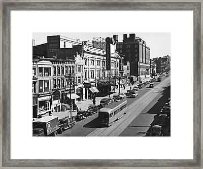 Ninth Street In Brooklyn Framed Print