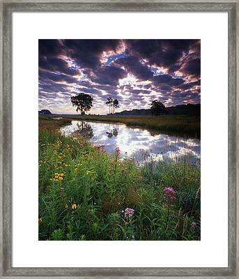 Nippersink Sunrise Framed Print
