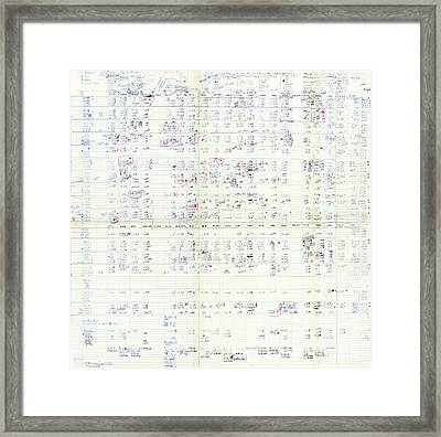 Nirenberg's Genetic Codon Table Framed Print by National Library Of Medicine