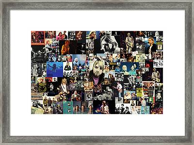 Nirvana Collage Framed Print by Taylan Apukovska