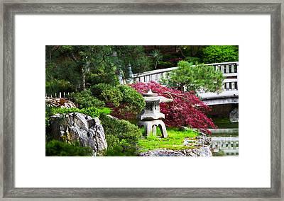 Nishinomiya Japanese Garden Framed Print by Chris Heitstuman