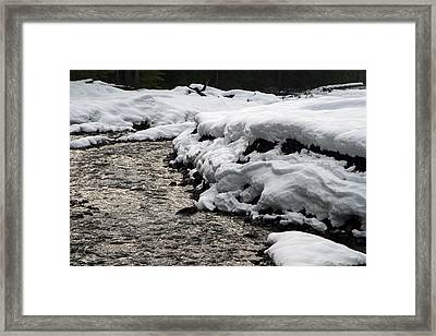 Framed Print featuring the photograph Nisqually River Mount Rainier National Park by Bob Noble Photography
