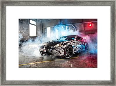 Nissan 350z Framed Print by Art Work
