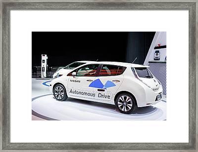 Nissan Autonomous Drive Vehicle Framed Print
