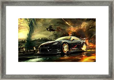 Nissan G T R Framed Print by Movie Poster Prints