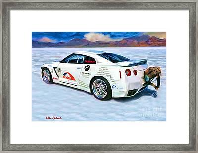 Nissan Salt Flats Framed Print