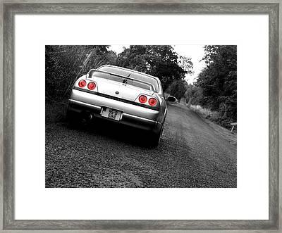 Nissan Skyline Framed Print by Eddie Armstrong