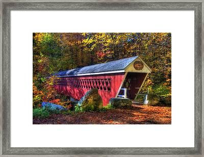 Nissitissit Bridge Brookline Nh Framed Print