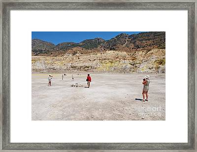 Nisyros Volcano Greece Framed Print