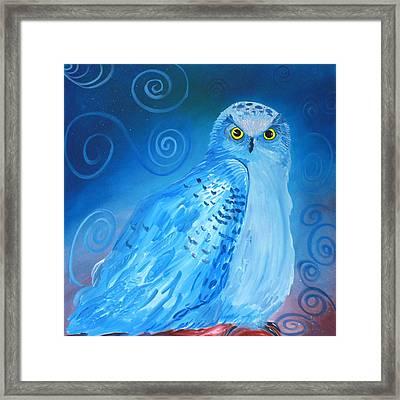 Nite Owl Framed Print by Amy Reisland-Speer