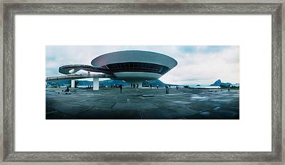 Niteroi Contemporary Art Museum Framed Print by Panoramic Images