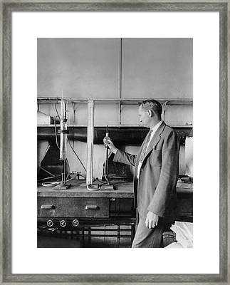 Nitric Acid Dissociation Framed Print by Chemical Heritage Foundation