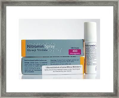 Nitromin Cardiac Spray Framed Print