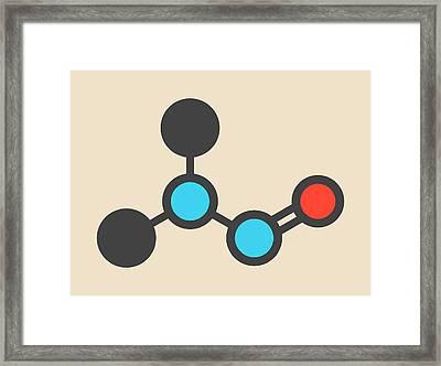 Nitrosodimethylamine Molecule Framed Print by Molekuul
