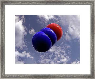 Nitrous Oxide Molecule Framed Print
