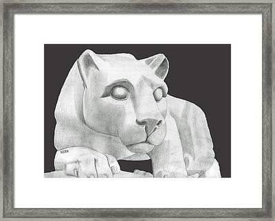 Nittany Lion Statue Framed Print