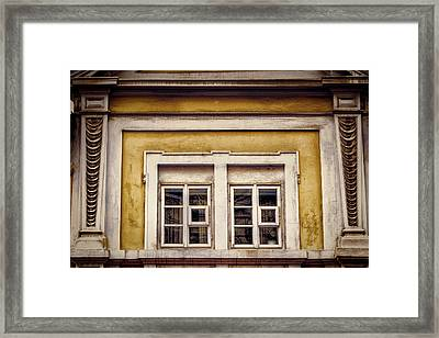 Nitty Gritty Window Framed Print by Joan Carroll