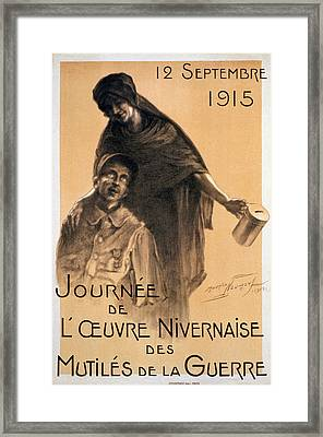 Nivernaise Day For The War Disabled Framed Print