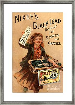 Nixey�s 1890s Uk Black Lead  Products Framed Print by The Advertising Archives