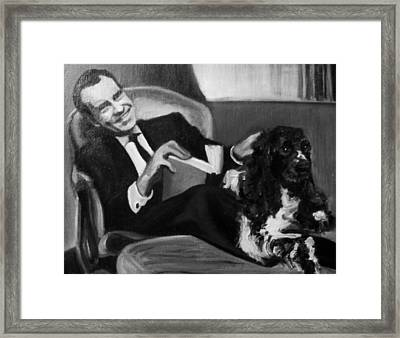 Nixon And Checkers Framed Print