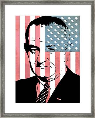 Lyndon Johnson Framed Print by Dan Sproul