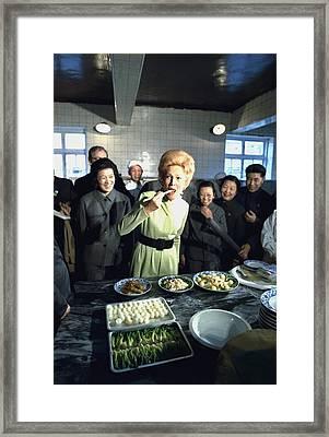 Nixon In China. Pat Nixon Samples Framed Print