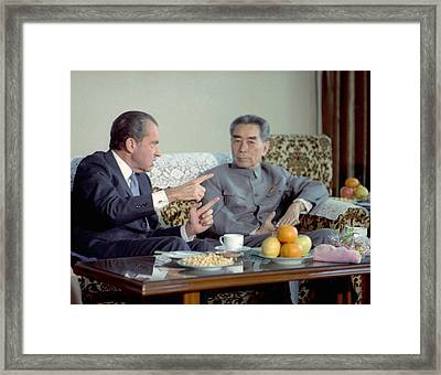 Nixon In China. President Nixon Framed Print