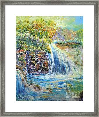 Framed Print featuring the painting Nixon's A Happy Day by Lee Nixon