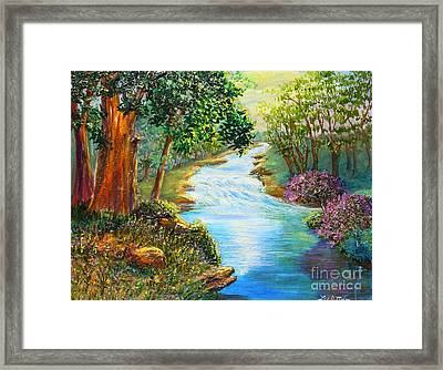 Nixon's A Luminous View Of The Rapidan River Framed Print