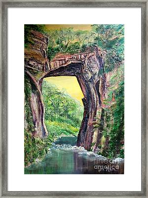 Nixon's Glorious View Of Natural Bridge Framed Print