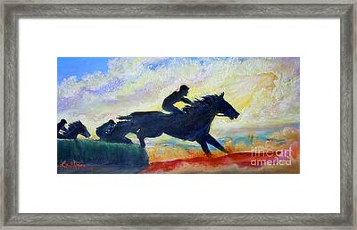 Nixon's The Race Is On No. 1   Framed Print