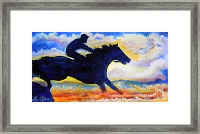 Framed Print featuring the painting Nixon's The Race Is On No.2 by Lee Nixon