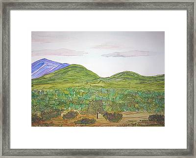 Nm Hills Framed Print