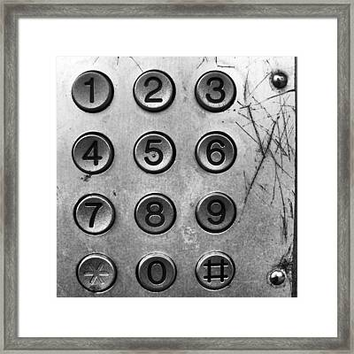 Números.  #teléfono #phone #telephone Framed Print