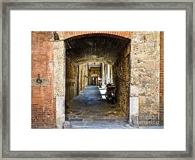No 155 And 157 - Siena Framed Print
