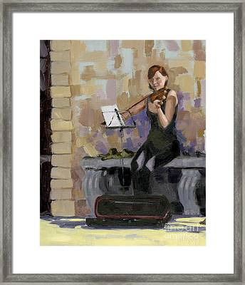 Sold No. 2 Trio In Triptych Framed Print