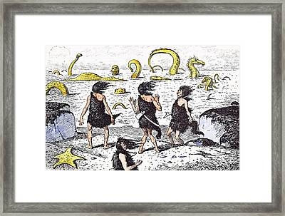 No Bathing Today Framed Print
