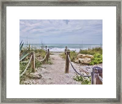 No Beach Today Framed Print