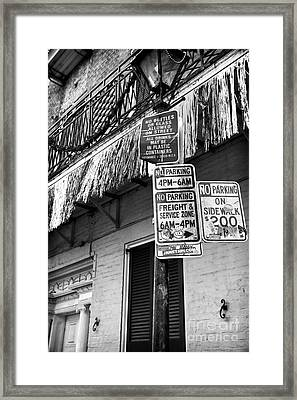 No Bottles Or Glass Framed Print by John Rizzuto