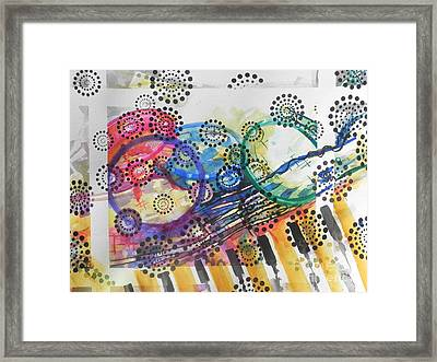 No Boundries With Music Framed Print by Chrisann Ellis