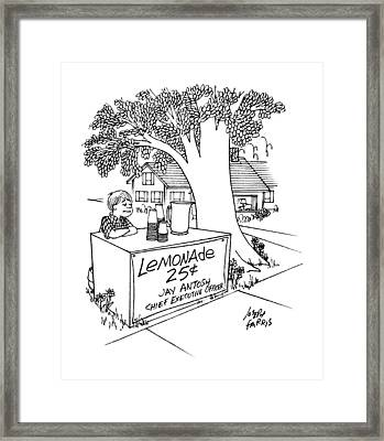 No Caption Framed Print by Joseph Farris