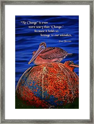 No Change Framed Print by Mike Flynn